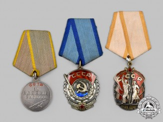 Russia, Soviet Union. A Lot of Three Awards & Orders