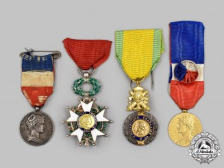 France, III & IV Republics. A Lot of Four Awards & Decorations
