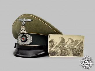 Germany, Heer. An Infanterie-Regiment 17 Visor Cap, with Owner Photo