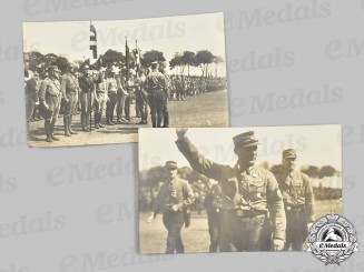 Germany, SA. A Pair of Photos of a Sturmabteilung Review