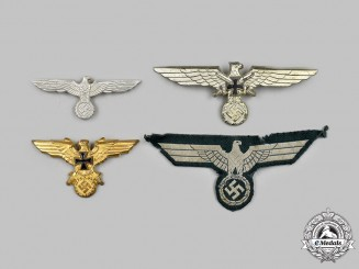Germany, Third Reich. A Mixed Lot of Eagle Insignia