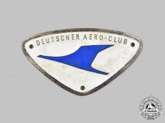 Germany, Federal Republic. A German Aero Club Member's Plaque, by Carl Poellath