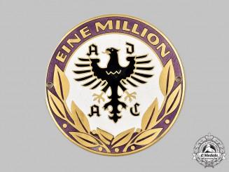 Germany, Federal Republic. A General German Automobile Club Million Members Commemorative Plaque, by Carl Poellath