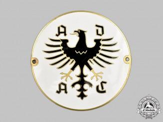 Germany, Federal Republic. A General German Automobile Club Member's Plaque, by E. Ferdinand Wiedmann