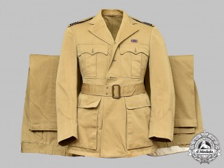Canada, Commonwealth. A Royal Canadian Air Force Squadron Leader's Tropical Uniform of A.J.Kerwin MD