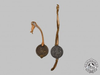 Germany. A Pair of Sports Medallion Fobs