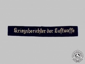 Germany, Luftwaffe. A Luftwaffe War Correspondent Enlisted Personnel Cuff Title