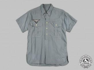 Germany, Luftwaffe. A Short Sleeve Blue Service Shirt