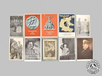 Germany, Third Reich. A Lot of AH and NSDAP Commemorative Postcards