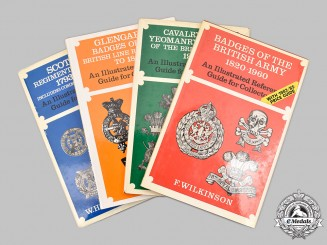 United Kingdom. Four British Army Badges Illustrated Reference Guides