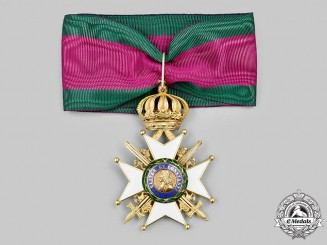 Saxe-Ernestine, Duchy. A Saxe-Ernestine House Order, Commander's Cross with Swords