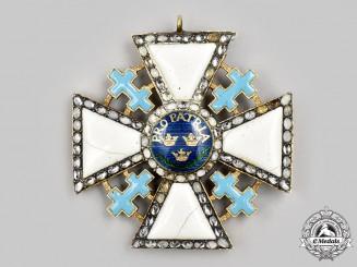Sweden, Kingdom. ARoyal Society Pro Patria, Collar Badge, c.1800