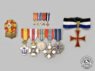 Spain, Fascist State. A Naval Officer's Awards & Decorations