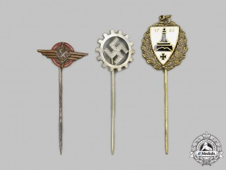 Germany, Third Reich. A Lot of Membership and Supporter Stick Pins