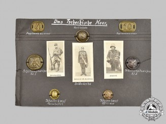 Germany, Third Reich. A Unique Wehrmacht Album Assembly of Czechoslovakian Army Buttons