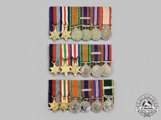 Canada, Commonwealth. Three Second War Miniature Groups of Six