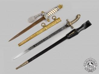 Germany, Imperial & Kriegsmarine. A Rare Set of Naval Daggers