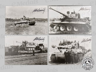Germany, Wehrmacht. A Lot of Postwar Signed Photos of Panzer Ace Otto Carius