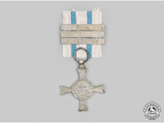 Vatican. A Mentana Cross, Type I with Three Clasps, c.1870