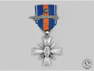 Netherlands, Kingdom. A Cross for Freedom and Justice for the Korean War, Bar & Star