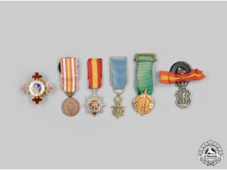 Spain, Kingdom, Franco Era. A Lot of Six Miniature Awards