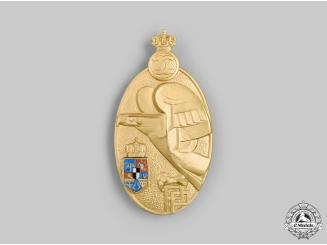 Romania, Kingdom. A Military Academy Graduate Badge, I Class Gold Grade, c.1935