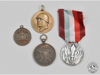 Italy, Kingdom. A Lot of Four Medals