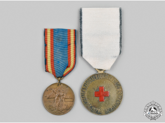 Romania, Kingdom. Two Medals