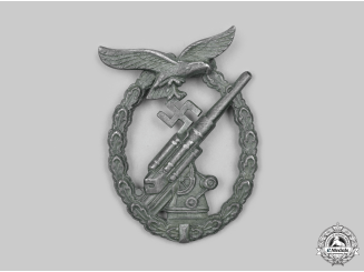 Germany, Luftwaffe. A Flak Badge, by Friedrich Linden