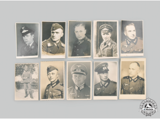 Germany, Wehrmacht. A Mixed Lot of Heer & Luftwaffe Studio Portraits