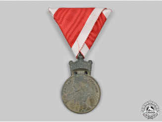 Croatia, Independent State. An Order of the Crown of King Zvonimir, Bronze Grade Medal, c.1941