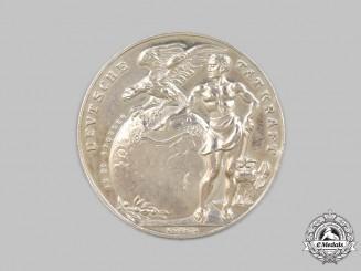 Germany, Weimar Republic. A 1924 Zeppelin Trans-Atlantic Flight Commemorative Silver Medallion, by Karl Goetz