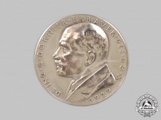Germany, Weimar Republic. A 1929 Dornier Do X Commemorative Silver Medallion