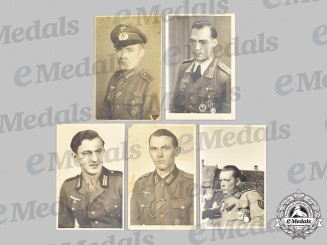 Germany, Heer. A Lot of Wartime Studio Portraits