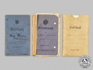 Germany, Imperial. A Lot of First World War Militärpäße and Award Documents