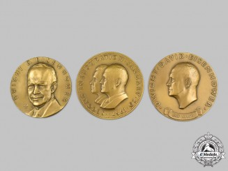United States. Three President Dwight D. Eisenhower Commemorative Table Medals by Medallic Art