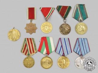 Bulgaria, Kingdom, People's Republic. Nine Medals