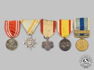Japan, Empire, Manchukuo. Five Awards