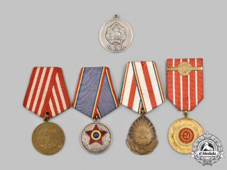 Romania, People's Republic. Five Medals & Awards
