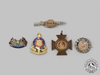 Canada, United Kingdom. Five First and Second War Badges