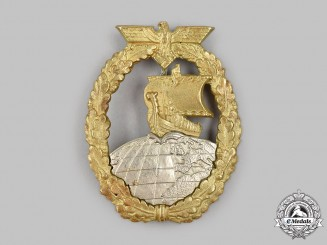 Germany, Kriegsmarine. An Auxiliary Cruiser War Badge, by C.E. Juncker
