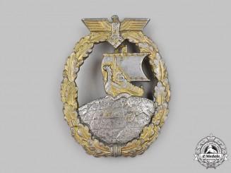 Germany, Kriegsmarine. An Auxiliary Cruiser War Badge, by Schwerin & Sohn