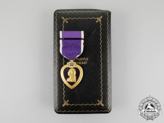 United States. A Purple Heart, Cased, to Arno M. Hess