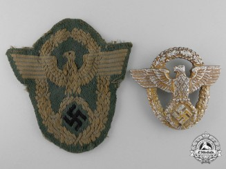 Two German Police Insignia