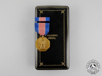 United States. A Soldier's Medal, Cased, to Winston F.C. Guest, United States Marine Corps