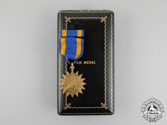 United States. An Air Medal, Cased