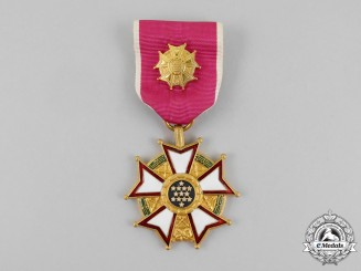 United States.  A Legion of Merit, Officer with Case