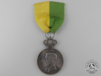A 1945 Swedish Royal Patriotic Society Long Service Medal