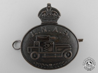 A First War Royal Naval Air Service Armoured Car Section Cap Badge