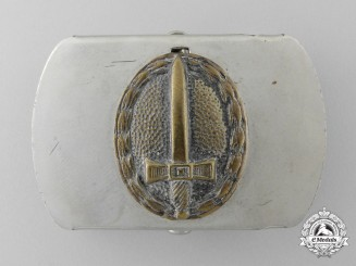 A Young Stahlhelm (Jungstahlhelm) Belt Buckle; Published Example